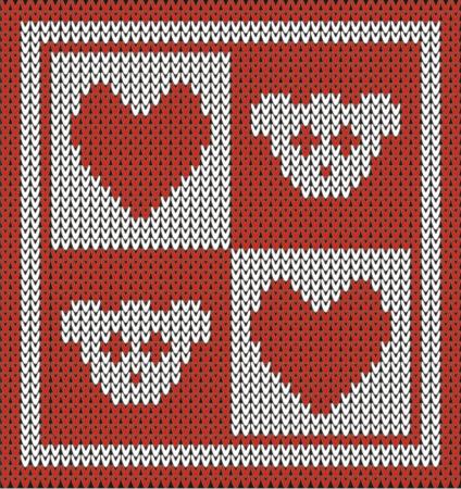 teddy bear knit pattern  Vector