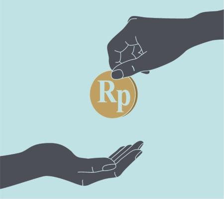 Hands Giving   Receiving Money  Vector