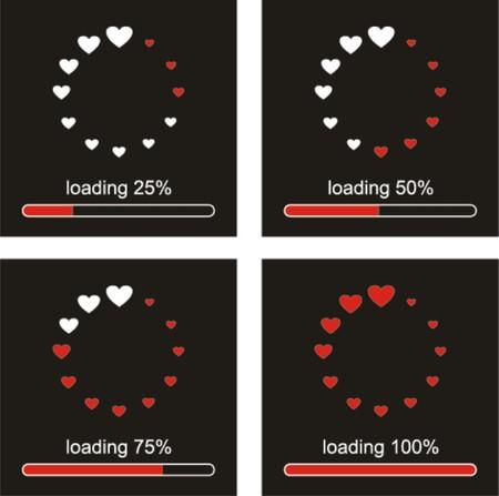 Loading love,please wait     Vector