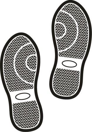 indent: Black shoe print  Illustration