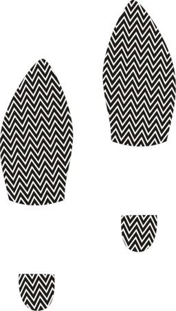 Black shoe print  Illustration