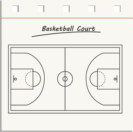 basketball court  Vector illustration  Illustration