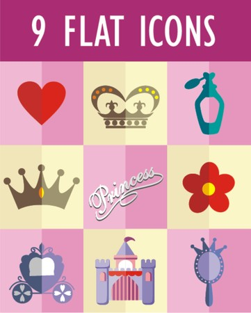 princess flat icon  Vector