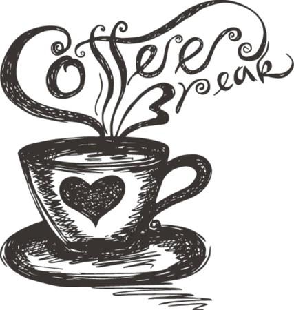 sketch of Coffee Break  Illusztráció