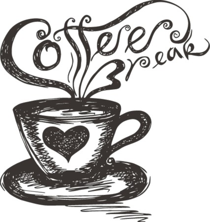 short break: sketch of Coffee Break  Illustration