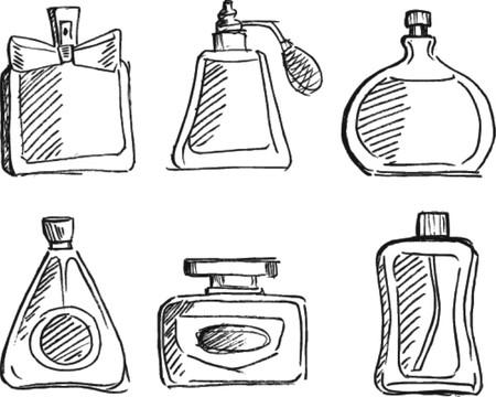 Perfume bottles vector  Vector