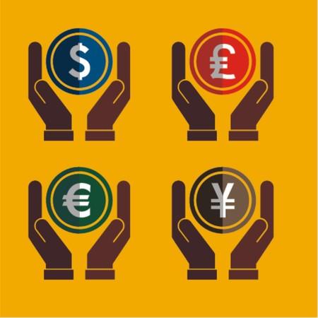 Money on hands,vector illustration