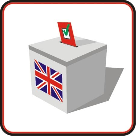 polling: Ballot box . Illustration on white Illustration