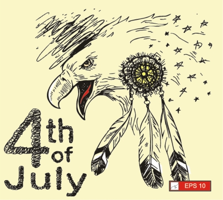 history month: eagle, independence of American , vector illustration