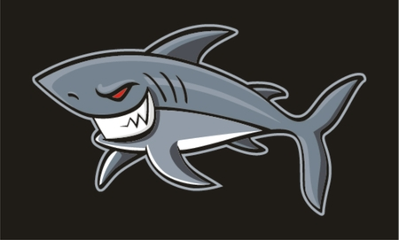 shark teeth: Angryof Shark ,vector illustration Illustration