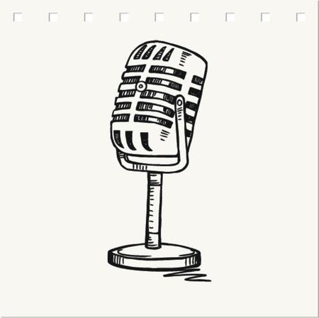 Vector retro microphone illustration
