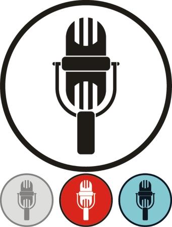 retro microphone: Vector retro microphone illustration