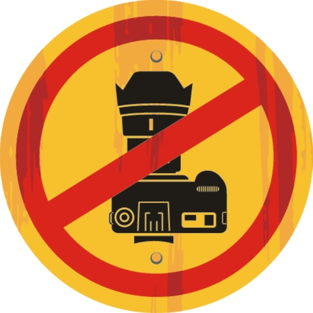no photo: No Photo Camera Sign, Icon. Vector Illustration