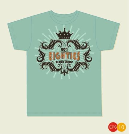 hipster mustache: Vintage Graphic T-shirt design - hipster mustache - Vector EPS10. Illustration