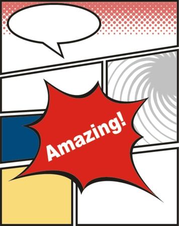 amazing: comic of amazing Illustration