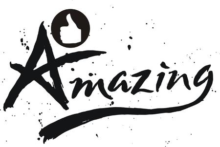amazing: Doodle of amazing