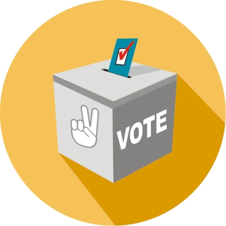 Peace of Voting concept in flat style