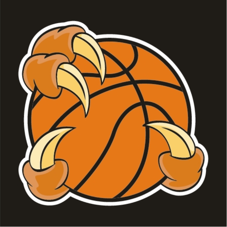 basketball design element and claw