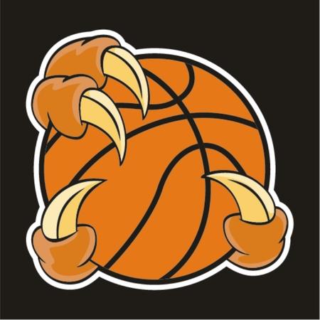 Basketball-Design-Element und Klaue