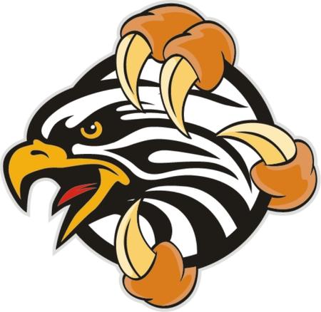 cartoon eagle: Mascot Head of an Eagle Illustration