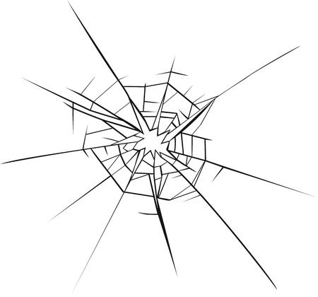 broken glass effect hole in the broken glass vector illustration rh 123rf com broken glass vector illustrator broken glass vector illustrator