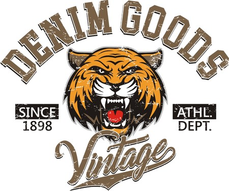 Tiger head logo for t-shirt