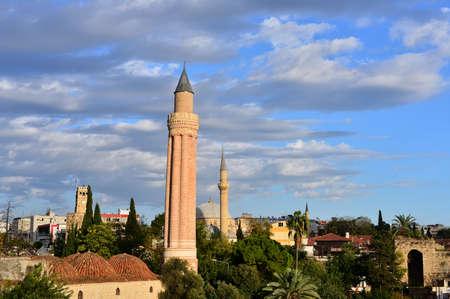 Historical Landmark Grooved Minaret - Yivli Minare, Kaleici - Antalya Editorial