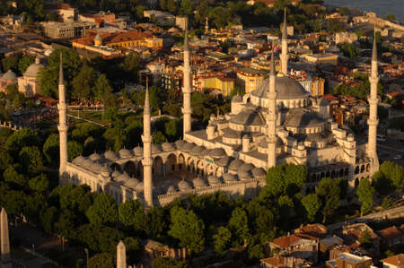 Blue Mosque  aerial view, Istanbul - Turkey Stock Photo