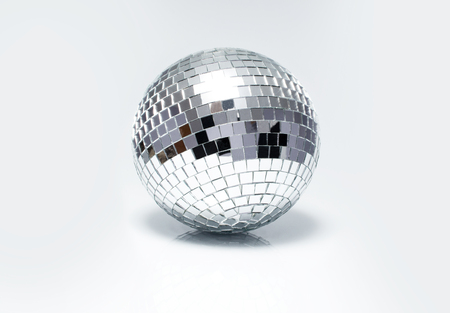 ball isolated: disco ball for dancing in a disco club Stock Photo
