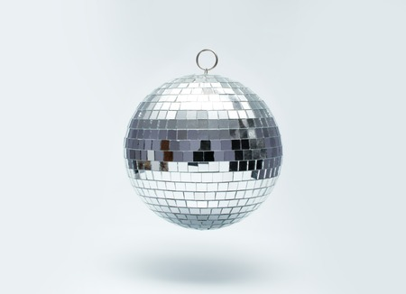 mirror ball: disco ball for dancing in a disco club Stock Photo
