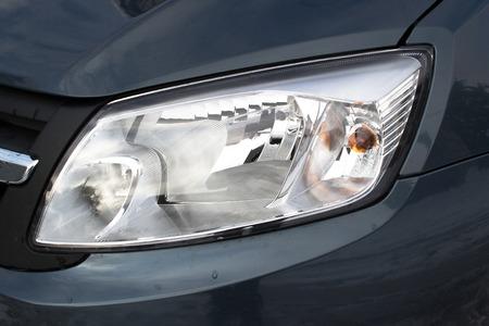 headlights: Car headlights to illuminate the street