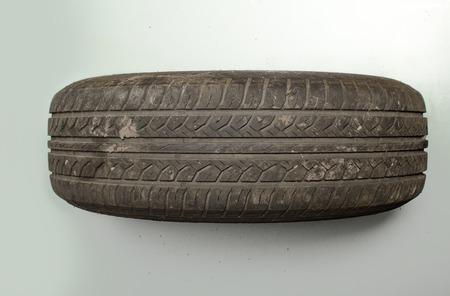 tire tread: old car tire tread worn dirty