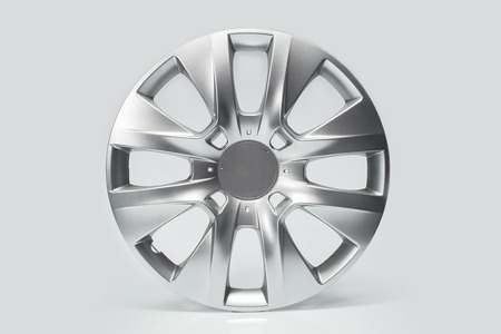 inhibition: silver cap on the wheel of car