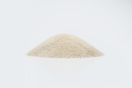semolina: semolina isolated on white background Stock Photo