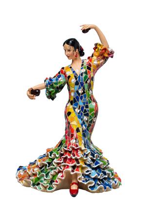 latin dance: woman dancing Latin dance statue Stock Photo