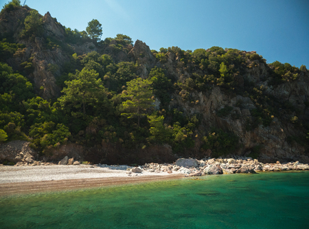 Beautiful and thick Turkish islands in summer Banque d'images