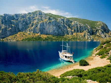 Beautiful bay on the sea coast Banque d'images