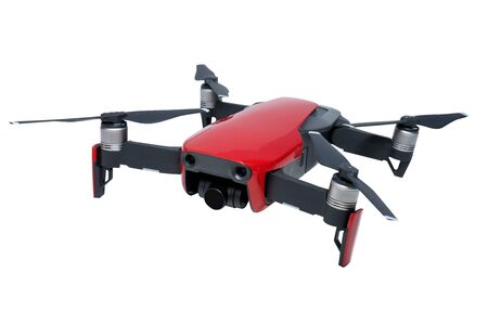 Video drone on a white background Banque d'images