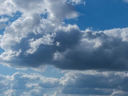 Clouds in the open blue sky Banque d'images