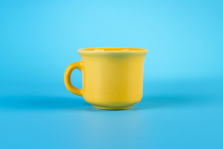 coffee cup isolated on blue background