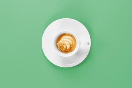 espresso cup with foam decoration 版權商用圖片