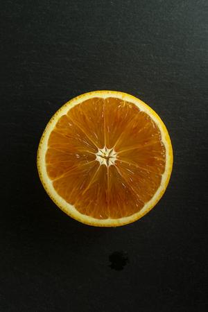 Orange cut into slices 写真素材