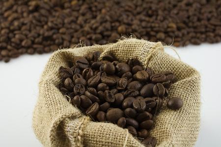 coffee in sack Zdjęcie Seryjne - 119434016