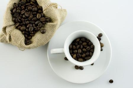 coffee with sack and cup Zdjęcie Seryjne - 119434029