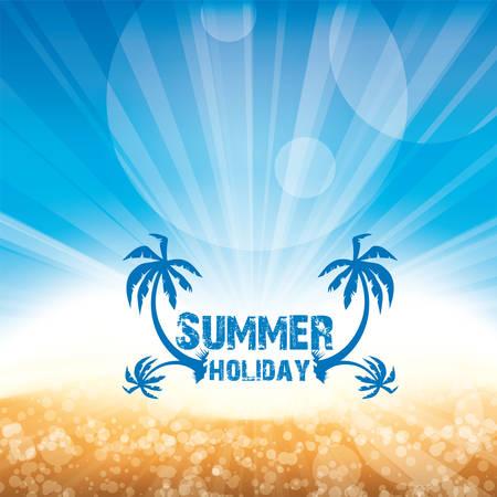 Summer beach and sea and sun fun