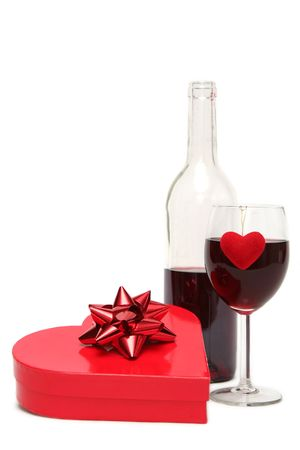 Valentines gift on a white background photo