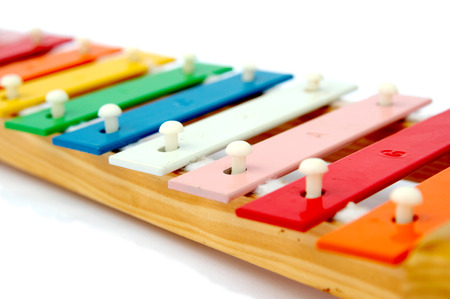 Rainbow xylophone on a light background