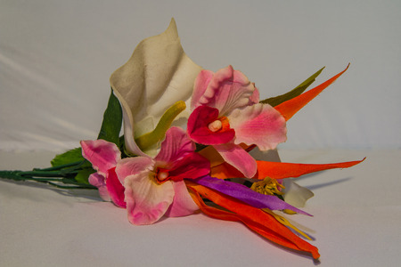 imitations: An artificial bouquet used for decoration Stock Photo