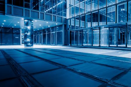 modern office buildings in midtown, blue tone