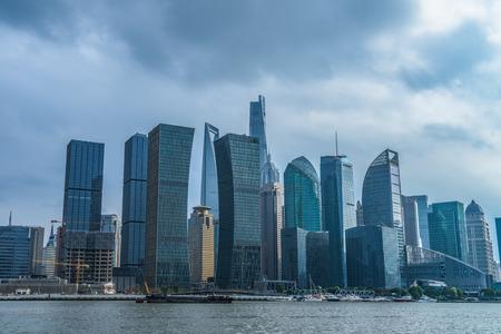 Shanghai skyline, Shanghai downtown district in China.